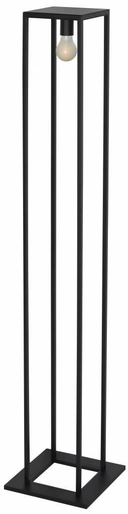 Rustic style floor lamp black, ruggine or copper E27