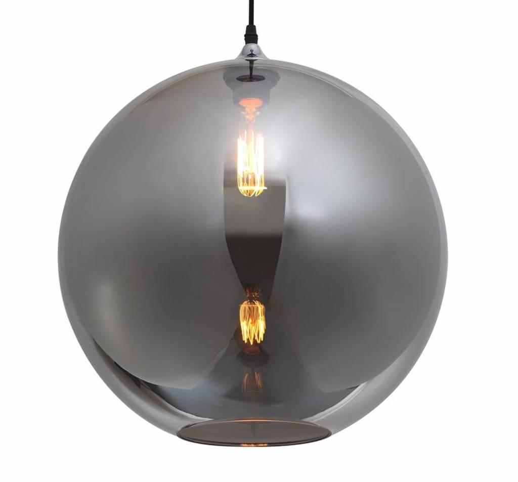 lustre boule design verre dor ou gris 40cm myplanetled. Black Bedroom Furniture Sets. Home Design Ideas