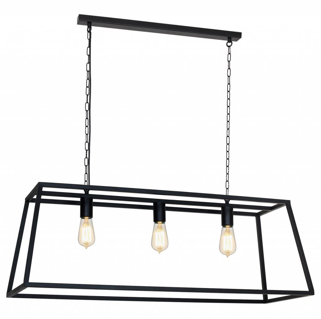 Pendant light black or rust E27x3 1000mm long