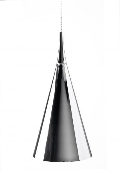 Luminaire suspendu design chrome blanc noir 430mm h for Luminaire suspendu blanc
