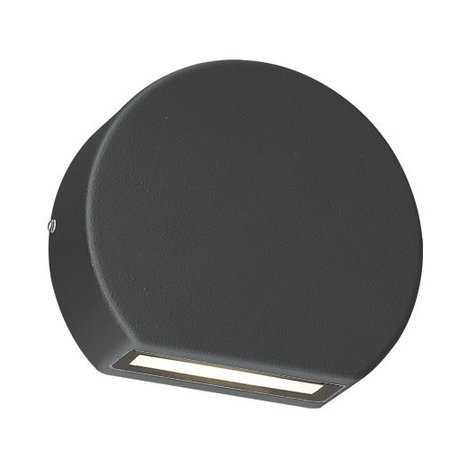 Outdoor wall light LED down white, black oval 100mm W 3W