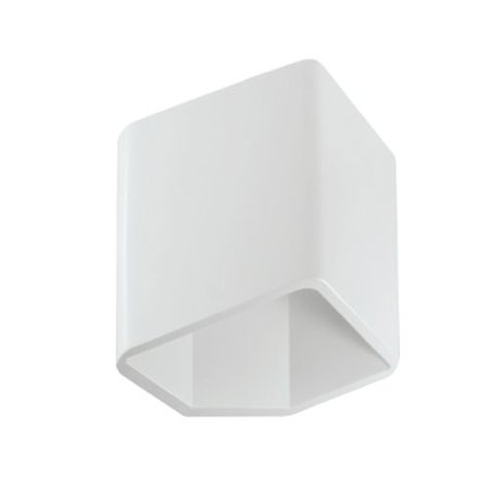 Wall light LED grey white square up down 115mm high 7,5W