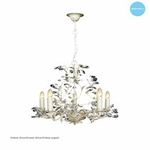 Chandelier pendant light black white rusty beige grey E14x5