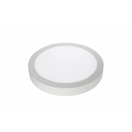 Colour changing LED ceiling light, round, 24W, black or white