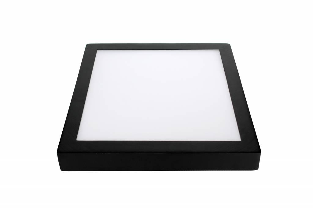plafonnier led couleur changeante carr 24w blanc noir. Black Bedroom Furniture Sets. Home Design Ideas