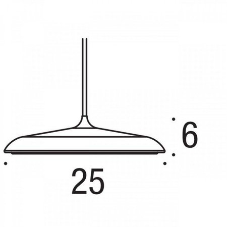 Luminaire suspendu LED rond gris ou cuivre 16W 250mm Ø