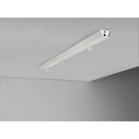 Rail for 3x pendant light 1130mm long white or grey
