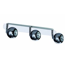 3 light bar spotlight GU10 chrome retro design