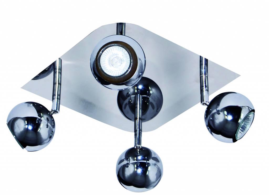 4 light bar spotlight chrome GU10 ceiling