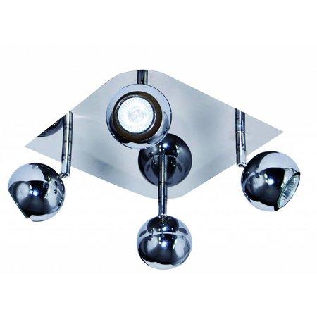 4 spot light chrome GU10 square ceiling