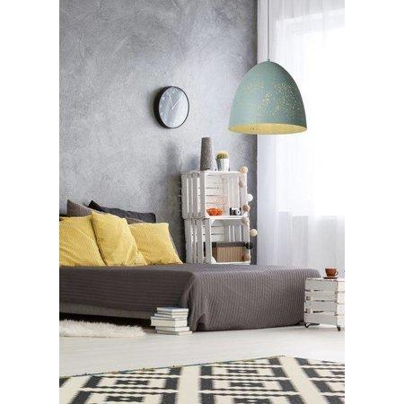Lampe Orientale suspension 40cm Ø blanc, noir, bleu