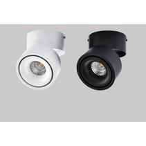 Opbouw spot LED design kantelbaar 20W wit, zwart