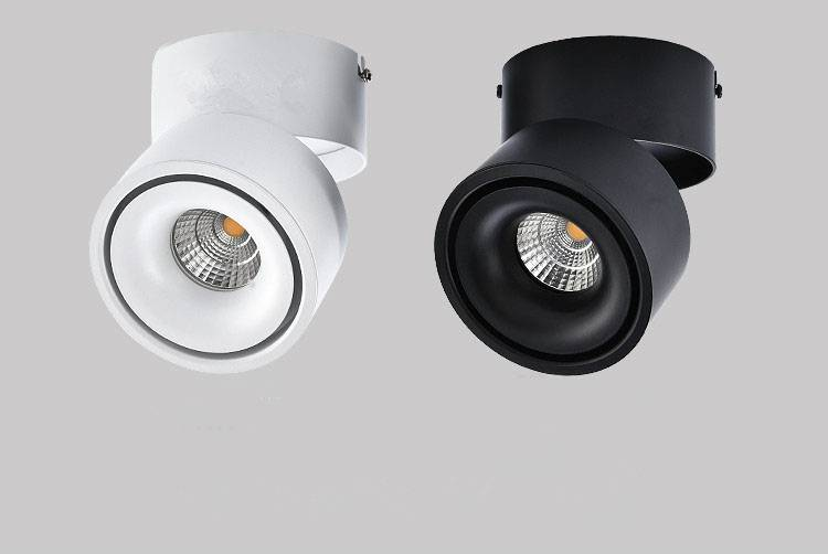 Adjustable spotlight LED 20W white or black