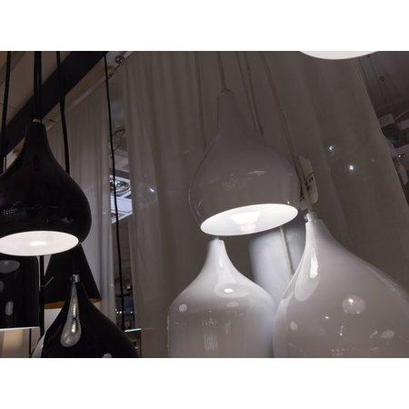 Vintage pendant light white, black 120cm long E27x5