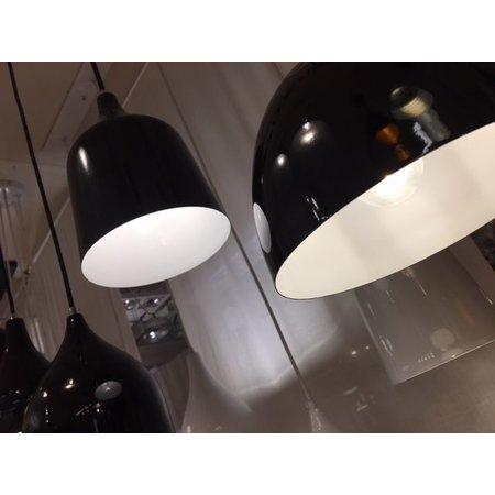 Vintage hanglamp wit, zwart 120cm lang E27x5