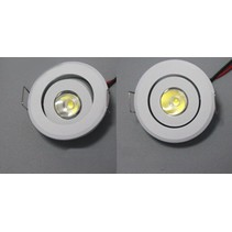 Mini spot led 3W inclinable