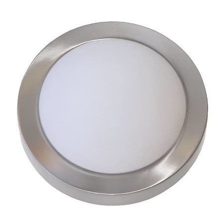 Ceiling light LED round glass white/brushed steel 10W 230mm