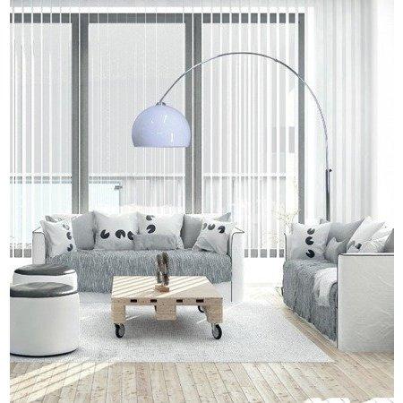 Lampadaire en arc blanc 1800-2080mm haut