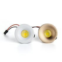 Spot encastrable 50 mm LED blanc, doré