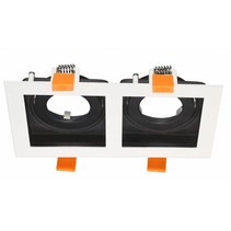 2 recessed lighting black, white, gold GU10