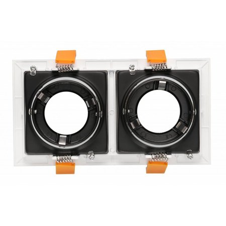 2 recessed lighting black, white, gold GU10