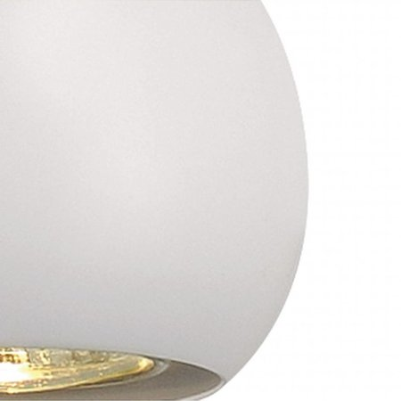 Pendant light ball white, copper, black 89mm Ø