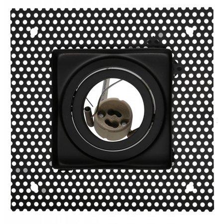 Trimless downlight square GU10 white/black