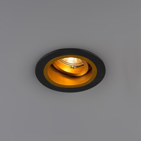 Downlight gold with black GU10