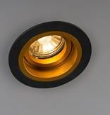 Inbouwspot goud met zwart GU10