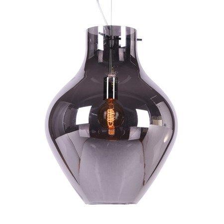 Vaaslamp gerookt glas 28x40, 18x28 of 38x51 cm