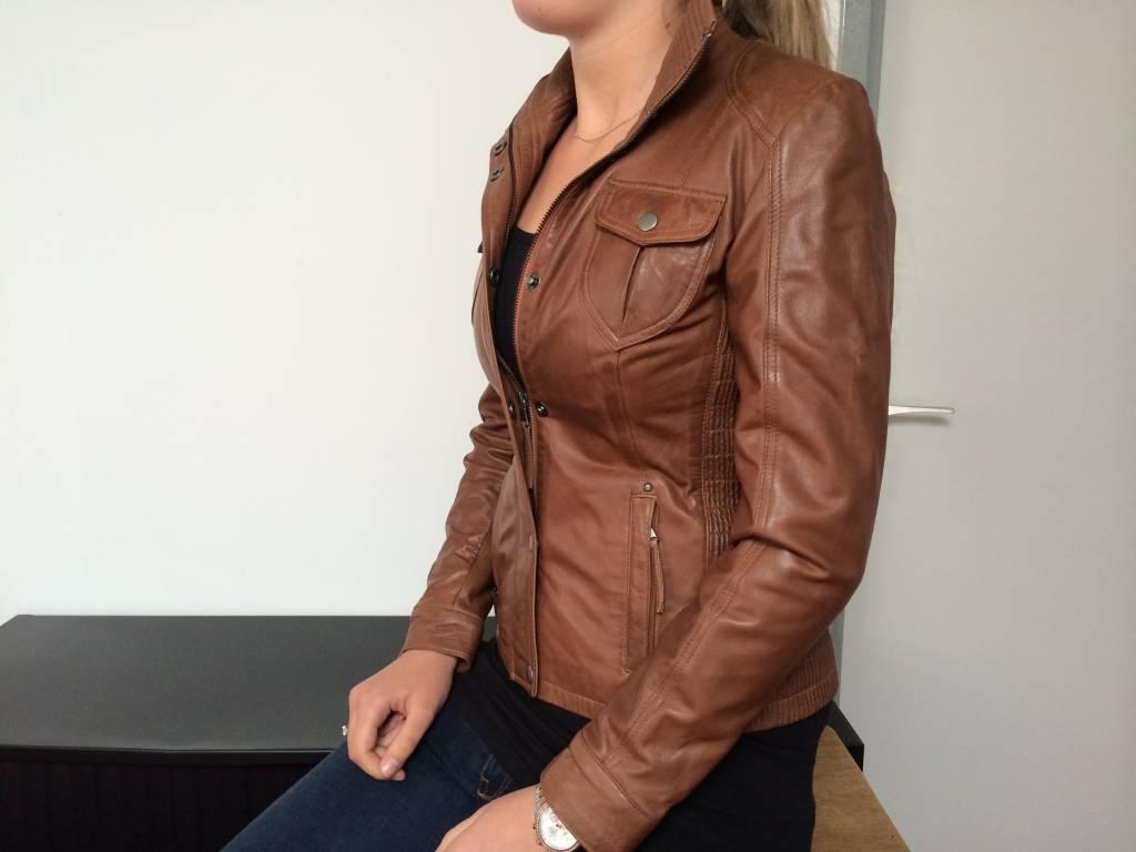 Jong Style Lerenjack Dames Eike Cognac