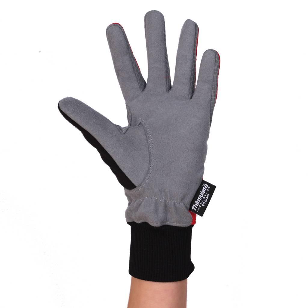 barnett NBG-08 Rote Fleecehandschuhe für Langlaufen Für Temperaturen zwischen 0° und -15°C
