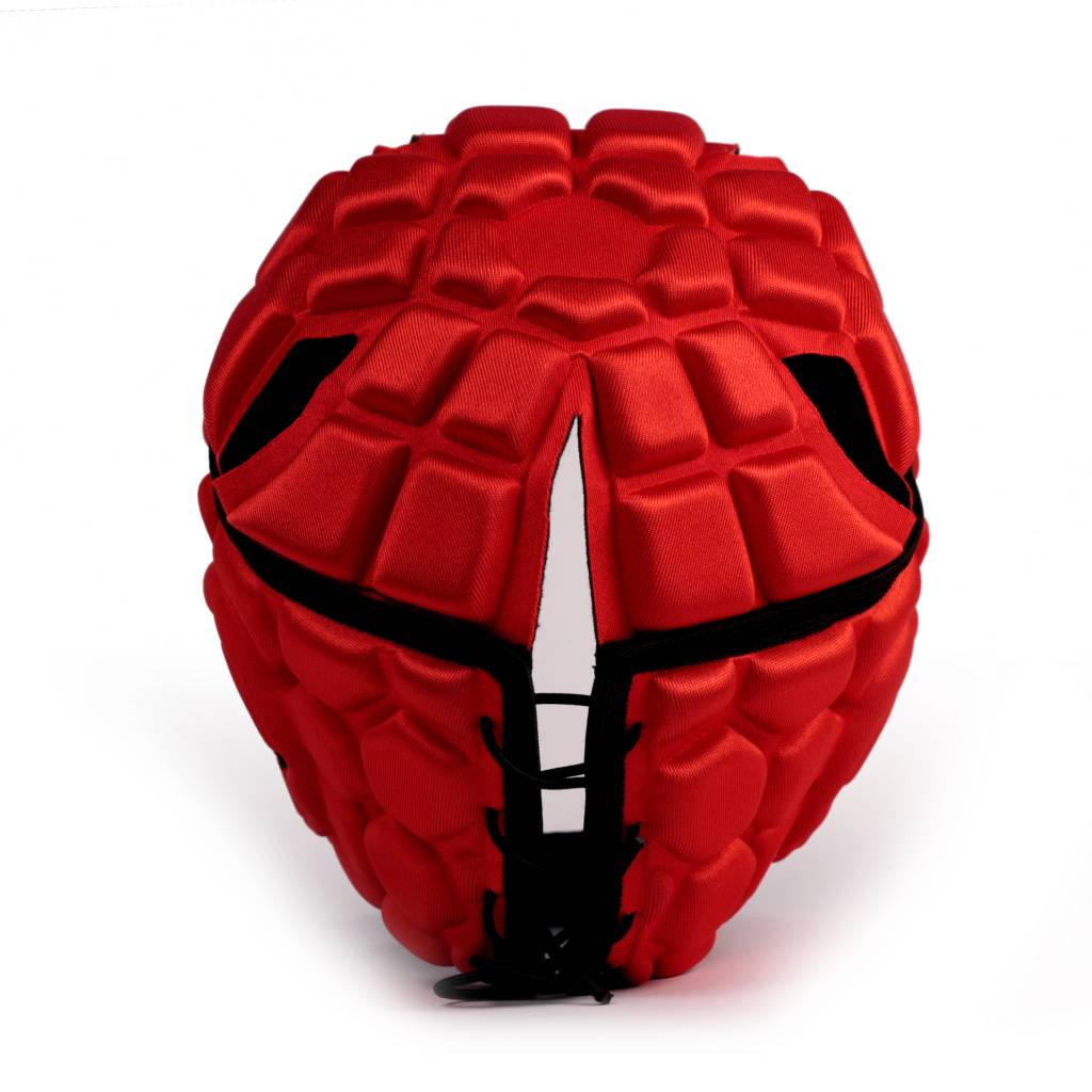 barnett HEAT PRO  Wettbewerb Rugby Cap, Farbe rot