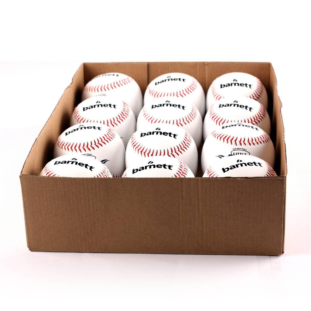 "barnett LL-1 Baseball Ball Wettkampf und Training, Grösse 9""(inch), Farbe weiß, 12 Stück (1 Dutzend)"