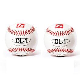 "barnett OL-1 Baseball Ball Wettkampf, Größe 9""(inch), Farbe weiß, 2 Stück"