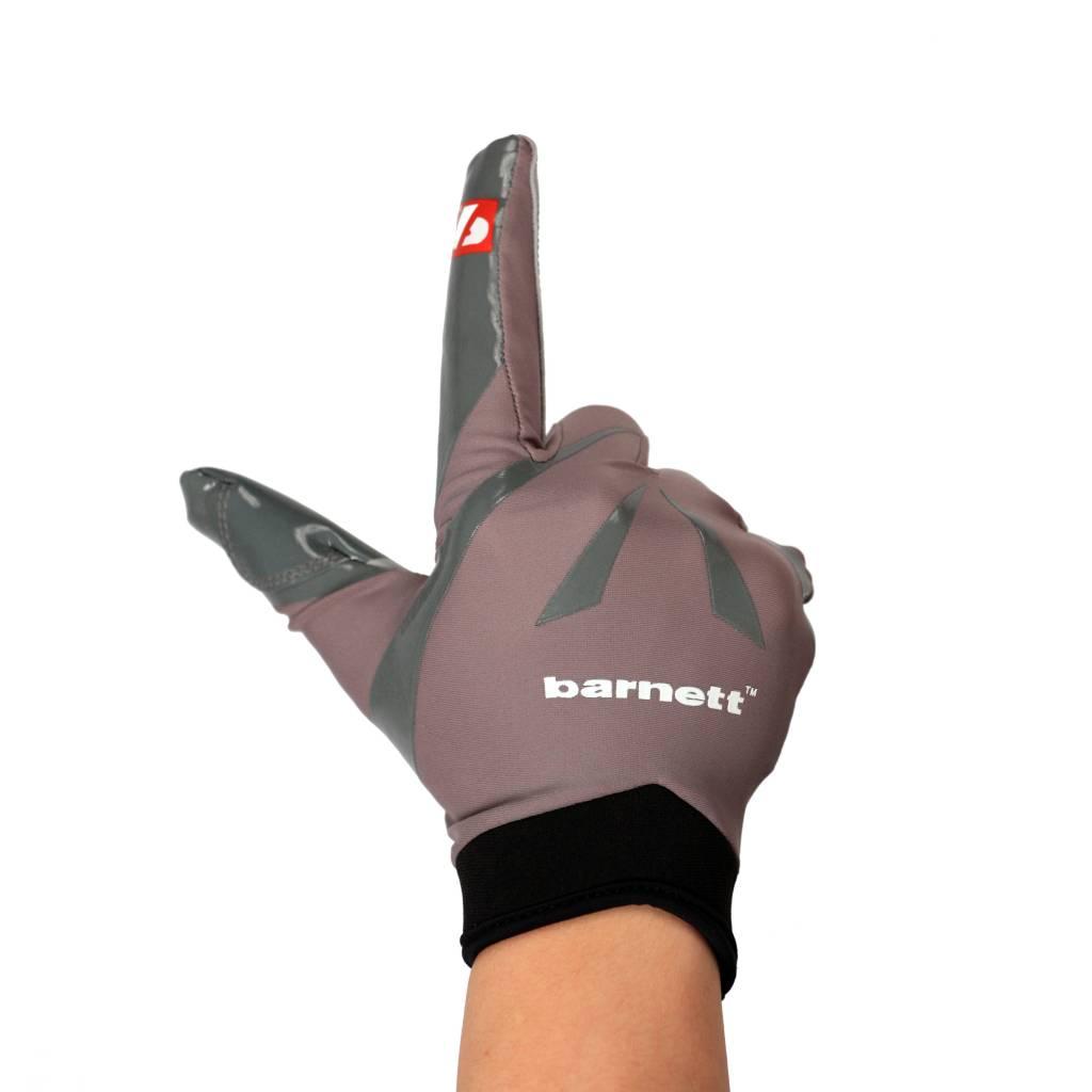 barnett FRG-03 American Football Handschuhe Empfänger Receiver Profi, RE,DB,RB, grau