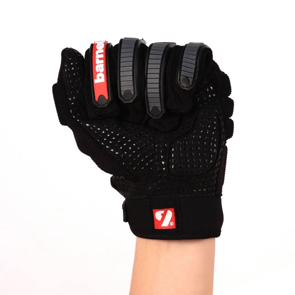 barnett FLG-02 American Football Handschuhe Linemen, neue Passform OL,DL, schwarz