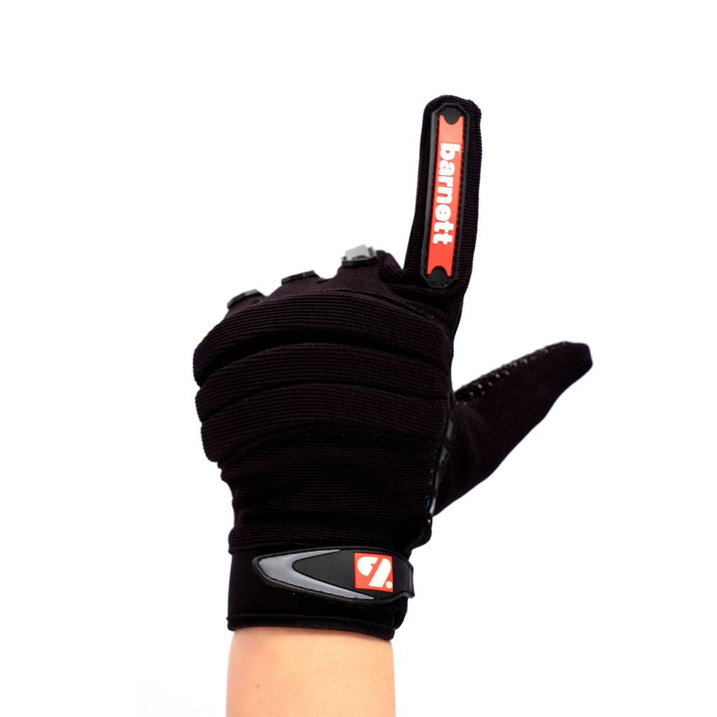 barnett FKG-02 American Football Handschuhe Linebacker fit, LB,RB,TE, schwarz