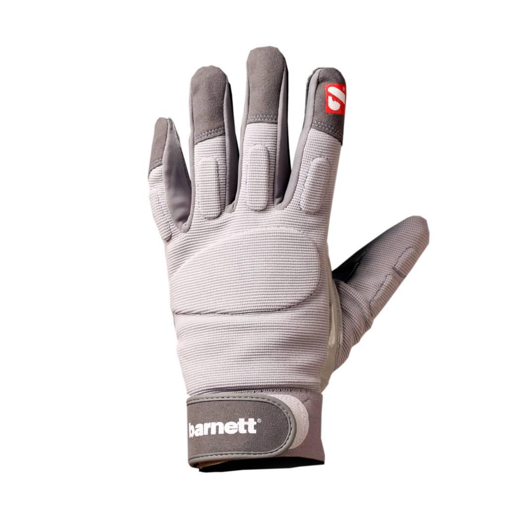 barnett FLG-01 American Football Handschuhe Linemen, OL,DL, grau