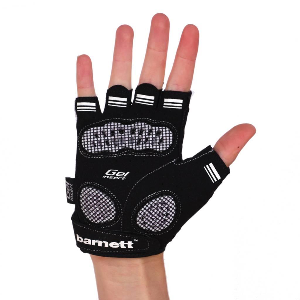 barnett BG-02 Kurzfinger Fahrradhandschuhe, Farbe schwarz