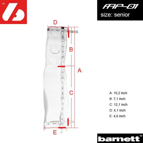 barnett FAP-01 : American Football Hand- und Unterarmschutz, weiß
