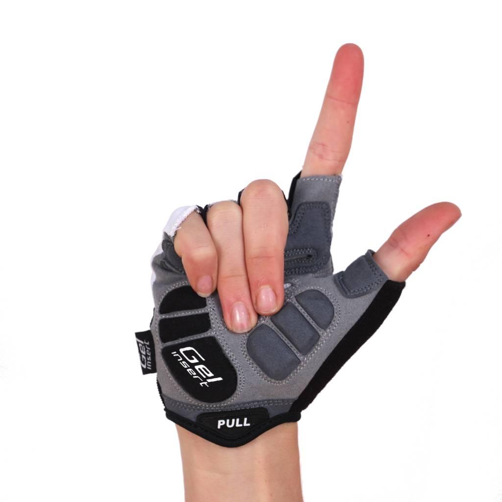 barnett BG-04 Kurzfinger Fahrradhandschuhe, für Wettkampf, Farbe weiß