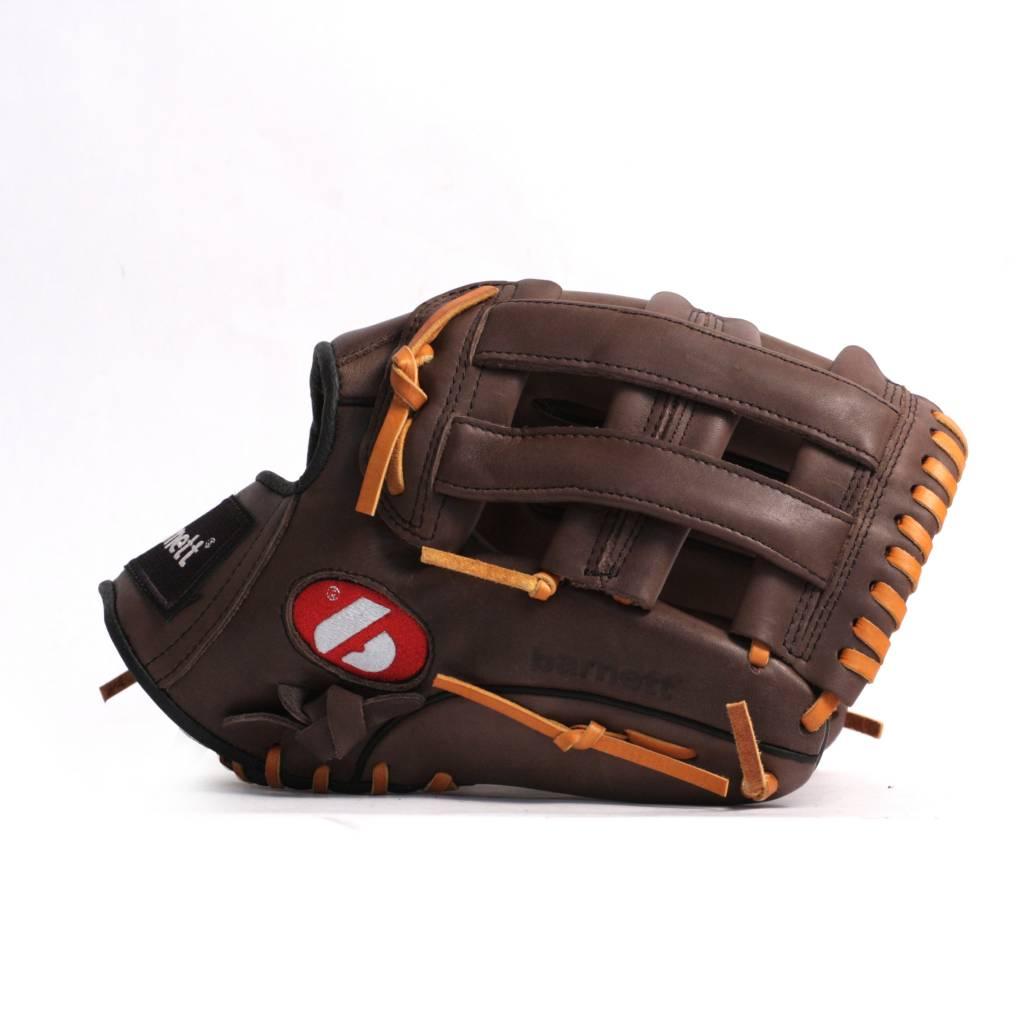 """barnett GL-125 Baseball Handschuh, Echtleder, Wettkampf, Outfield & Softball Größe 12,5"""" (inch), braun"""