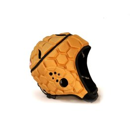 barnett HEAT PRO Rugby Helm, Spielhelm Profi, Farbe altgold