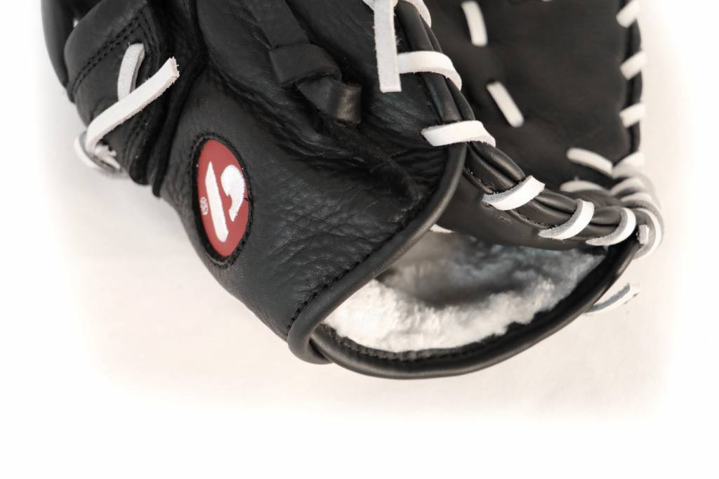 barnett GL-301 Baseball Handschuh Erster Base (First Base) Erwachsene, Echtleder, Wettkampf, Schwarz
