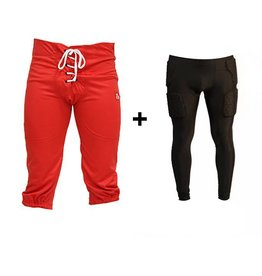 barnett PACK PROTECTIVE PANTS Kit  American Football Hosen + Kompressions Leggings (integrierte Schutz)