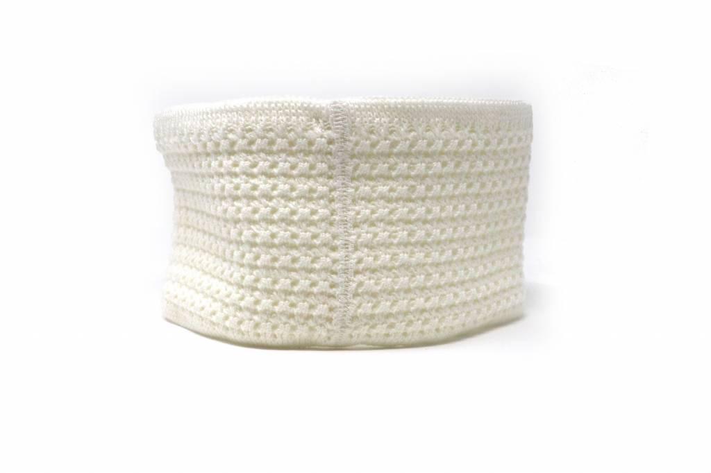 barnett M4 Warmes Stirnband aus Wolle, für Temperaturen bis -30°C, weiss