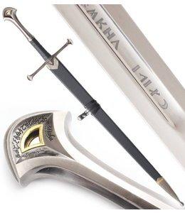 Anduril / Narsil Schwert in Scheide mit Inschrift