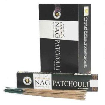 Golden Nag Patchouli Wierook Stokjes