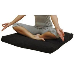 Love Generation Traditional Zabuton Meditation Mat Black